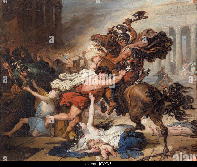 Francois Joseph Heim, Study for Destruction of Jerusalem by the Romans 1794 Oil on canvas. The Jewish Museum, New - Stock Image
