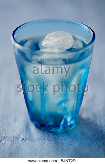 A glass of iced water - Stock Image
