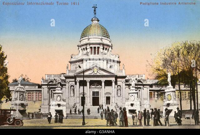 The Turin Exposition 1911 - Industrial Arts Pavilion     Date: 1911 - Stock-Bilder