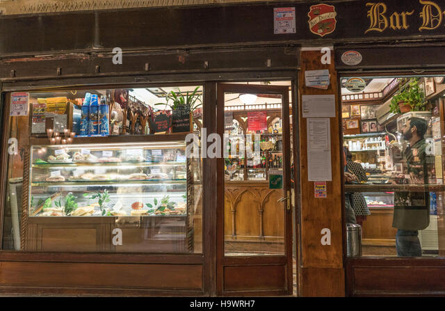 Bar Ducale, window with food, Venedig, Venezia, Venice, Italia, Europe, - Stock Image