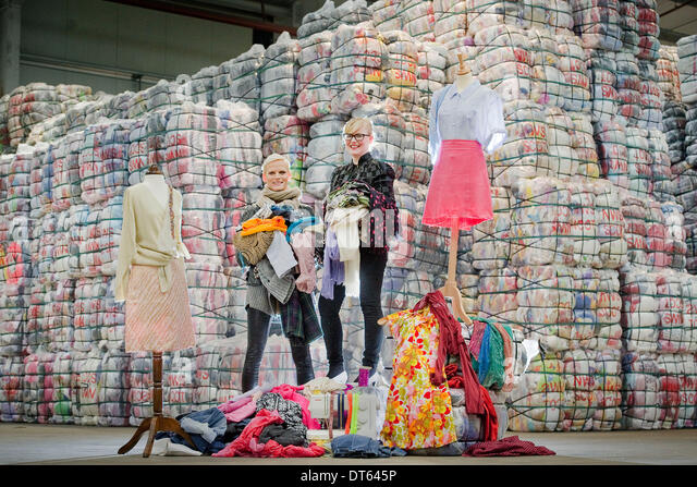 Denny Scotland.10th Feb, 2014. Fashion stars call on Scots to ' Love Your Cloths', and show some fashion - Stock Image