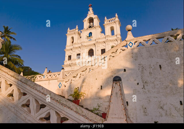 Church of Our Lady of the Immaculate Conception Panjim Goa India - Stock Image