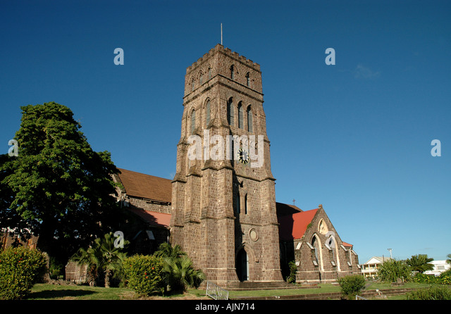 St Kitts West Indies Caribbean St Georges Anglican Church - Stock Image