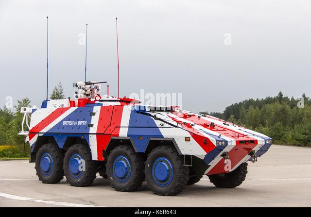 Leusden, the, Netherlands. 15th Aug, 2017. German company Rheinmetall presents its Armoured Transport Vehicle 'Boxer' - Stock Image