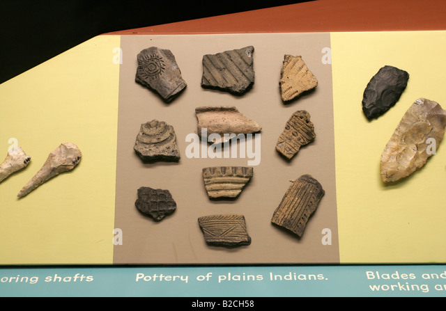 Plains Indian artifacts Pipestone National Monument - Stock Image