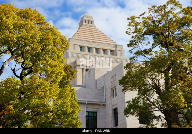 National Diet House of Japan. - Stock Image