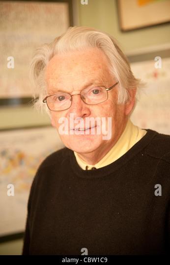 welsh author writer cartoonist and calligrapher TEGWYN JONES - Stock Image
