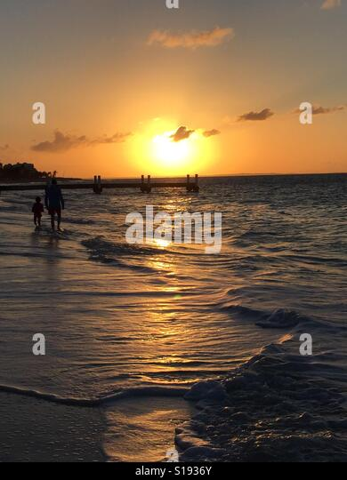 Beautiful sunset in Turks and Caicos - Stock-Bilder