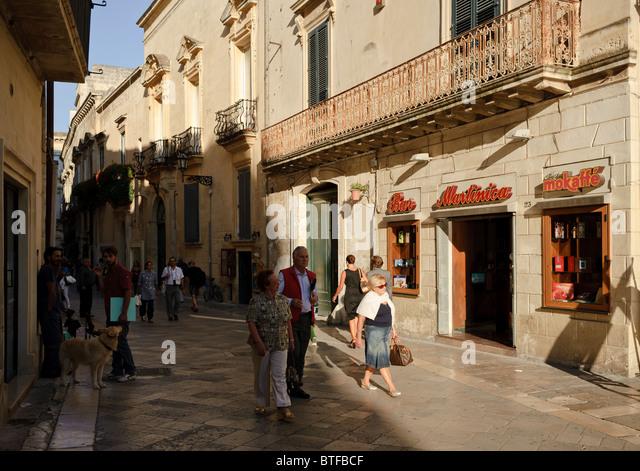 Corso Vittorio Emanuele, Lecce, Puglia, Italy - Stock Image