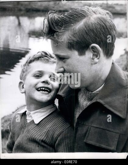 Apr. 04, 1959 - Fourteen Year Old Cockney Boy Receives George Medal. Saved His Nephew When Airliner Crashed On His - Stock Image