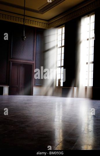 Large empty room in old barracks - Stock-Bilder