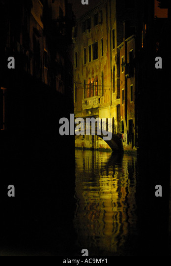 Nighttime in Venice Italy - Stock-Bilder