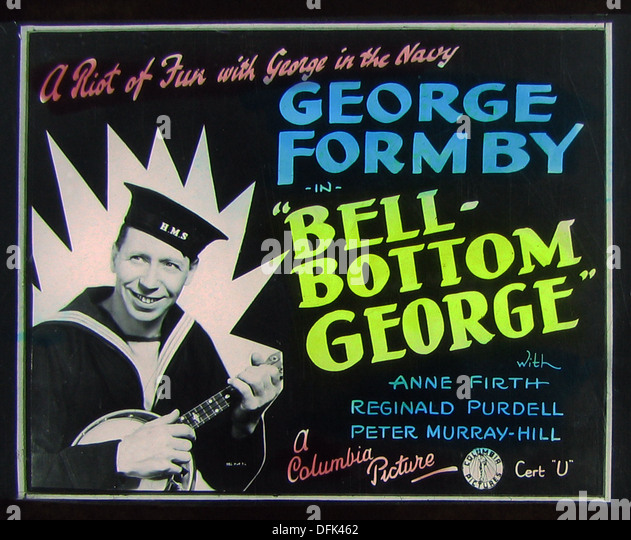 George Formby Bell Bottom George cinema projection slide 1944 - Stock Image