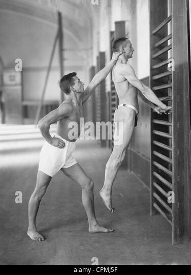 Gymnastics, 1921 - Stock Image