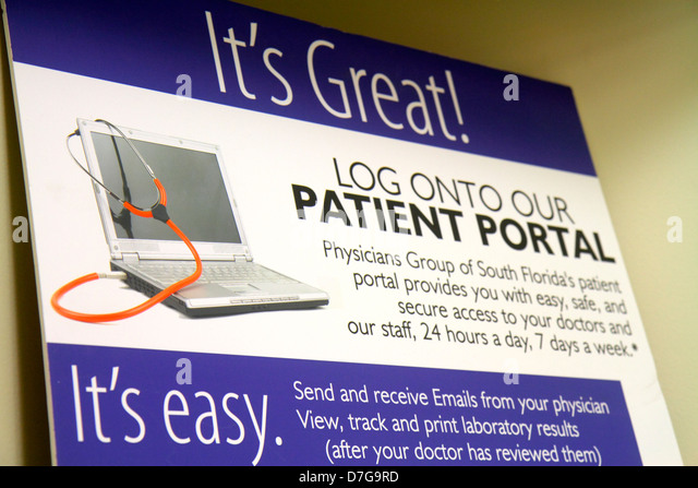 Miami Beach Florida Mt. Mount Sinai Medical Center centre health doctor's office waiting room sign notice patient - Stock Image