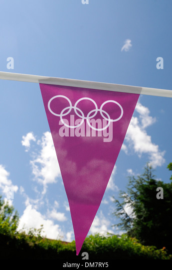 Olympic bunting - Stock Image