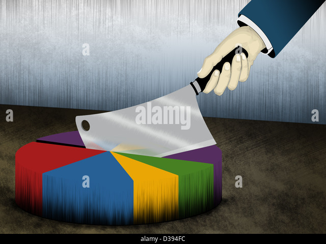 Illustration of cost cutting - Stock Image