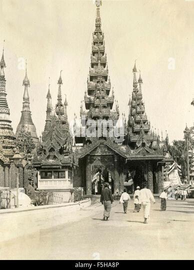 Temple Schou Dagon, India - Stock Image