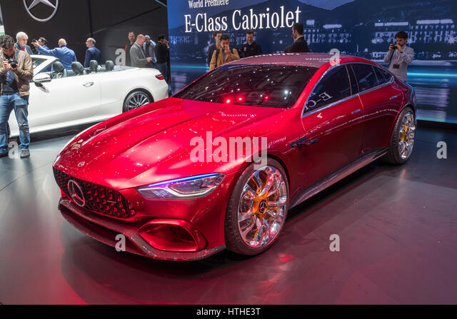 Mercedes AMG GT Concept hybrid car at 87th Geneva International Motor Show in Geneva Switzerland 2017 - Stock Image