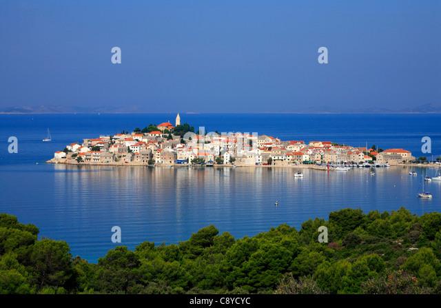 Primosten town Croatia - Stock-Bilder