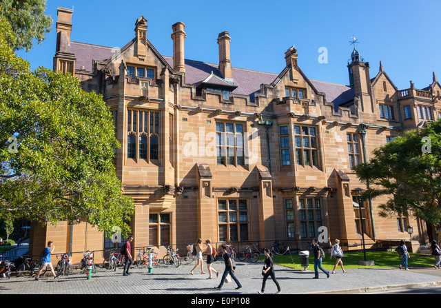 Sydney Australia NSW New South Wales University of Sydney education campus Anderson Stuart Building sandstone historic - Stock Image
