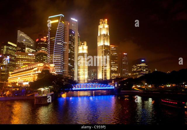 Singapore skyline - Stock Image