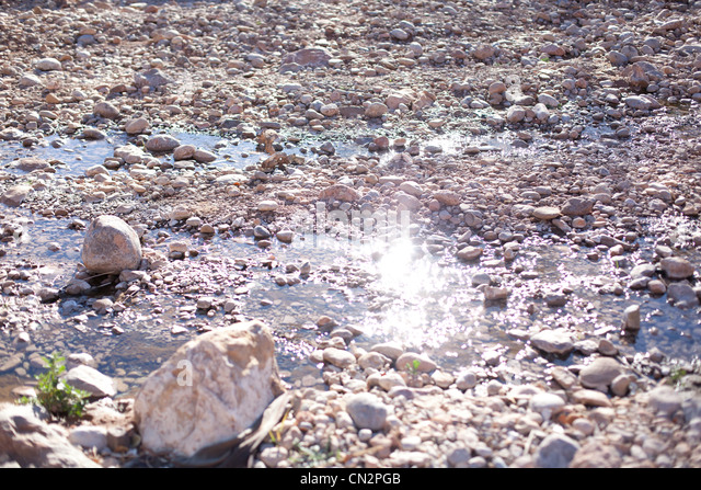 Rocks in river - Stock Image