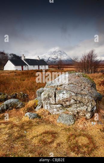 Blackrock Cottage Buchaille Etive Mor Rannoch Moor - Stock Image