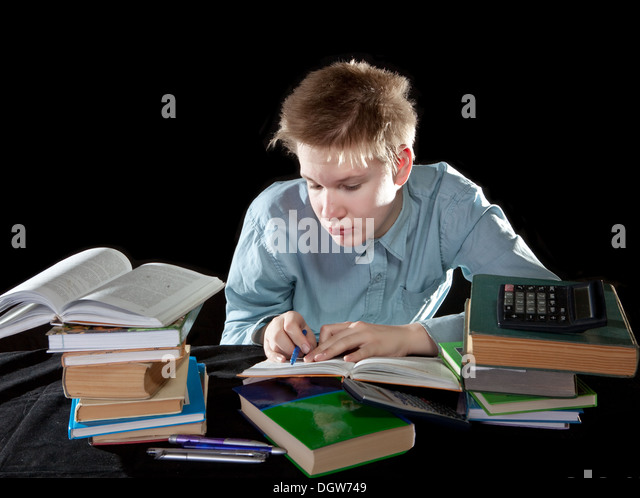 The pupil decides homework - Stock Image