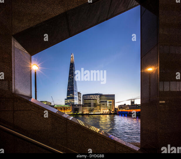 The Shard with Southwark Cathedral and London Bridge. - Stock Image