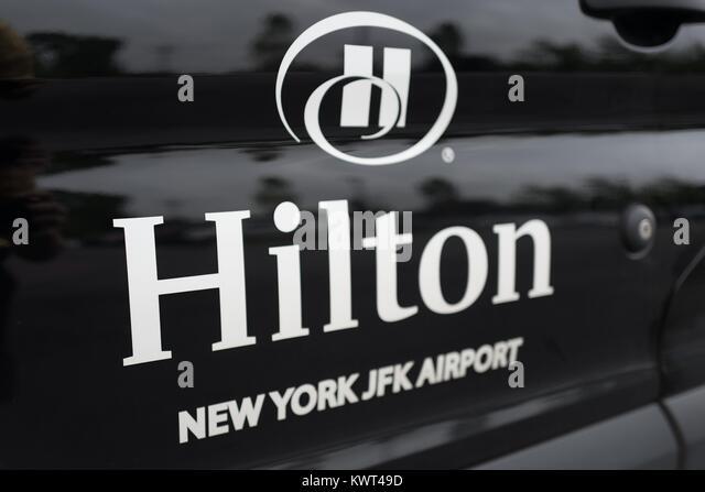 hilton new york hotel stock photos hilton new york hotel. Black Bedroom Furniture Sets. Home Design Ideas