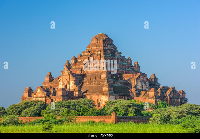 Bagan, Myanmar temples in the Archaeological Park. - Stock Image