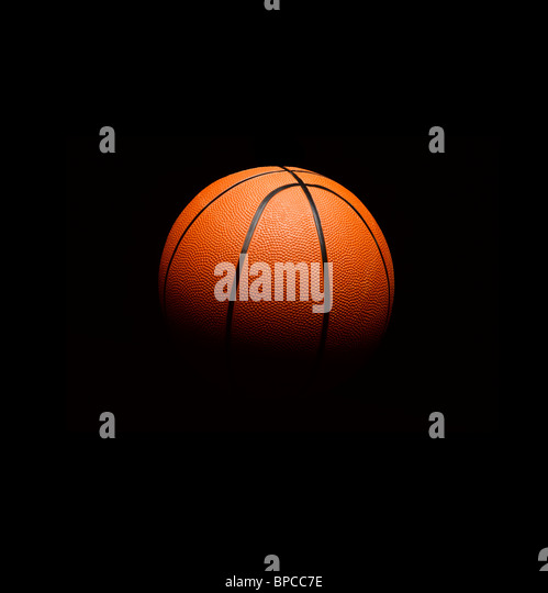 Basketball floating in space - Stock Image