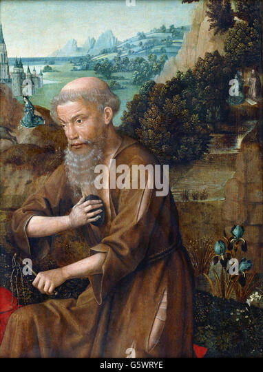 Master of The Legend of St. Lucy - St. Jerome - - Stock Image