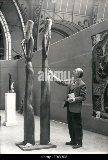 Mar. 12, 1961 - Sculpture in polychrome by Francois Brochet at Grand Palace - Stock Image