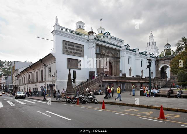 Metropolitan cathedral, historical center of Quito, Ecuador - Stock Image