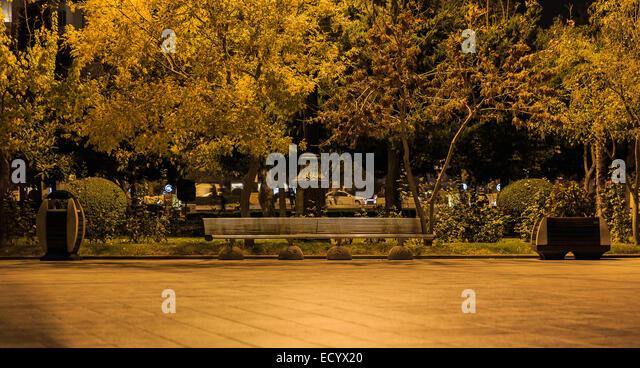 Gold accurate Baku Boulevard - Stock Image