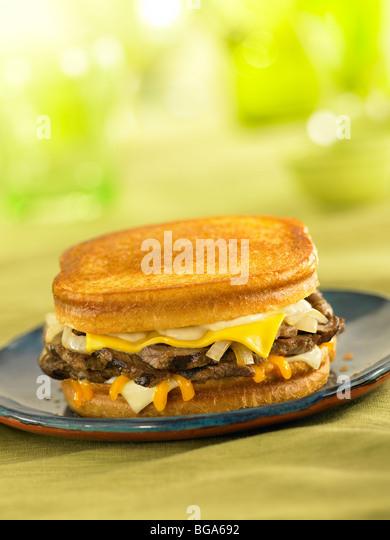 Sourdough steak melt sandwich - Stock Image