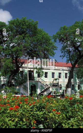 St Thomas USVI Virgin Islands Legislature Building - Stock Image