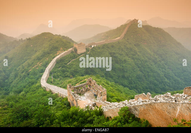 Great Wall of China. - Stock Image