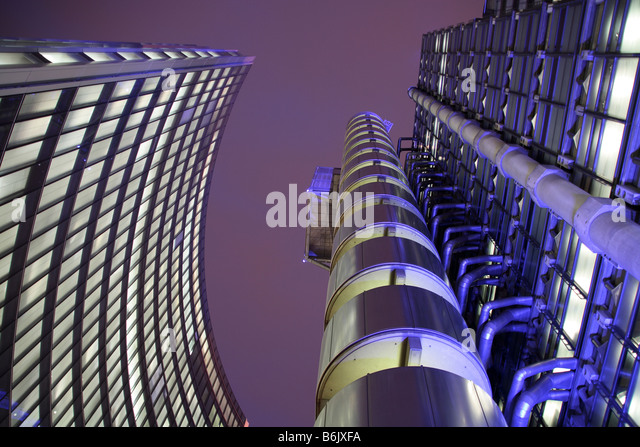 UK, England, London. The Lloyd's Building in the London city centre. - Stock Image
