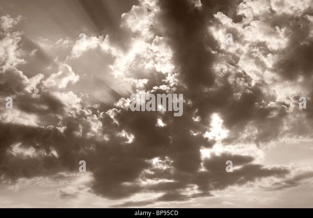 Sun Rays/Beams and Clouds - Stock-Bilder