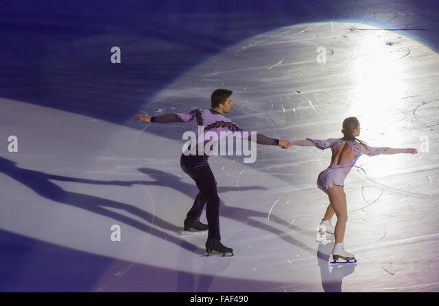 Nicole Della Monica and Matteo Guarise  Figure Skating Champions - Stock Image