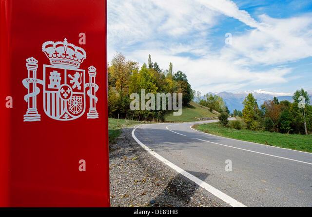 Bisaurri Spain  City pictures : Road Huesca Province Spain Stock Photos & Road Huesca Province Spain ...