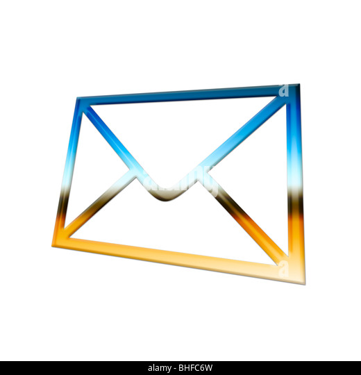 Mail! Graphical Image of an Envelope - Stock Image