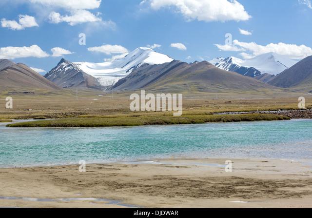 Arabel-Suu river in Kirgizstan - Stock-Bilder