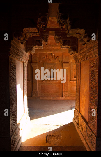 Palace Complex at Fatehpur Sikri in Uttar Pradesh India - Stock-Bilder