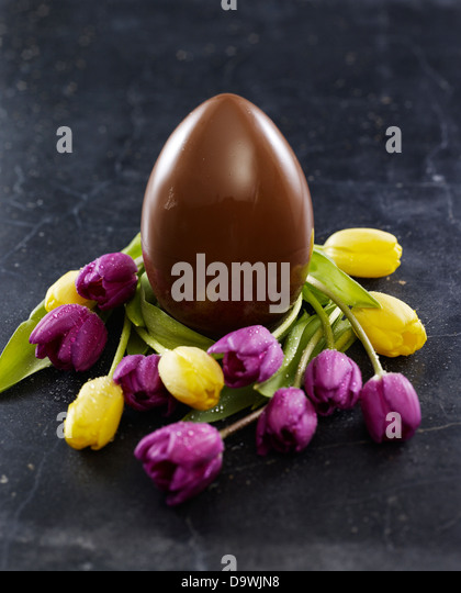 easter chocolate egg - Stock Image