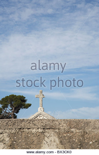 cemetery in Marseille - Stock Image