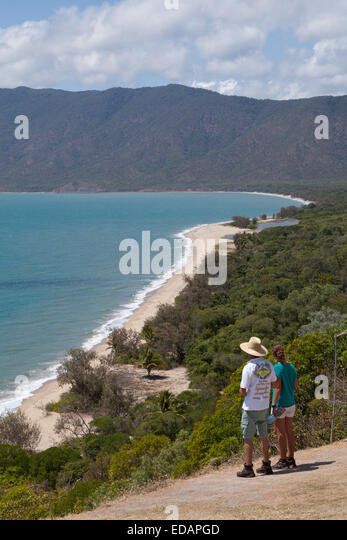 Rex Lookout and Trinity bay,Northern Queensland,Australia - Stock Image